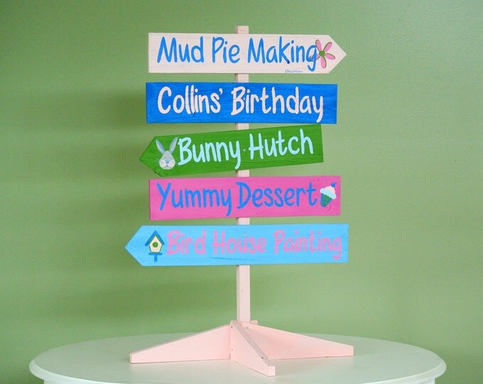 Kids Birthday Party Wooden Sign, Event Table Decor, Party Wood Sign, Gift Idea for Mom, Friends Birthday Gift Custom
