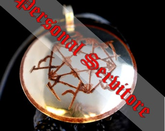 PERSONAL SERVITOR - Very Powerful Ritual Medallion + Ritual Parchment | Witchcraft | Sorcery | Magick | casting a spell | magic art