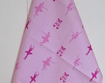Pink ballet tea towel -  pink ballet kitchen towel - pink ballerina tea towel - pink ballerina kitchen towel - in 100% cotton