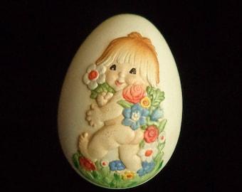 FERRANDIE Carved Wood Egg ANRI  Italy