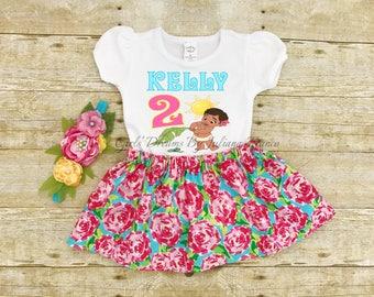 Baby Moana Birthday Outfit, Baby Moana Tutu, Baby Moana Outfit, Moana Personalized Shirt, Girls Moana Shirt, Princess Shirt, Moana Birthday