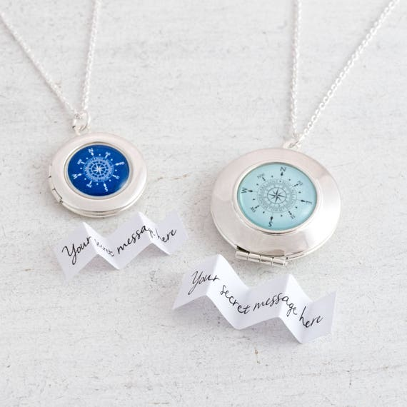 Personalised Compass Locket