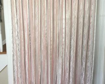 Wedding Ribbon Backdrop, Ribbon curtains, Wedding Backdrop, Ribbon Backdrop, Event backdrop, Bridal Shower backdrop, Baby shower backdrop