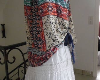 Very light and airy ethnic top