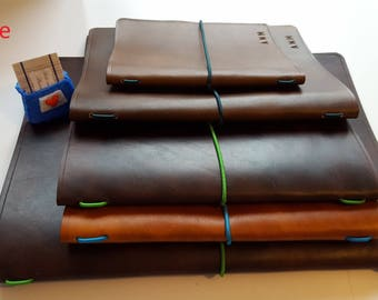 Leather book cover A4 Refillable Journal cover Wine list Sketchbook cover Gift for your Boss Graduation gift for someone off to uni