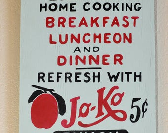 Eat Here Breakfast Lunch Dinner Kitchen Sign Home Decor Art Distressed Rustic