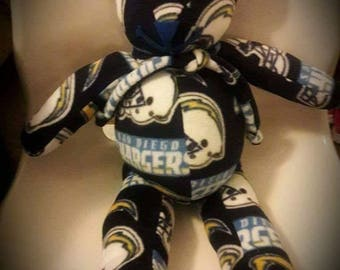 San Diego Chargers Sports Bear by Vintage Angel