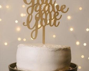 God Gave Me You Wedding Cake Topper, Wedding Cake Topper, Cake Topper, Cake Topper Wedding, god gave me you, wedding decor, weddings, decor