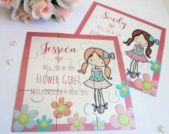 Will you Be our Flower girl, Flower girl proposal, Flower girl puzzle, Be my Flower girl gift, Personalized Puzzle Invitation