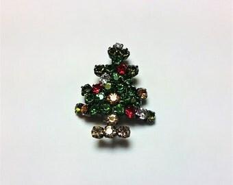 Austrian Brooch/Crystal Brooch/Christmas Brooch/Christmas tree