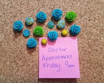Decorative Thumbtacks, Decorative Push Pins, 14 pcs Pushpins, Bulletin Board Tacks, Wedding Decor, Dorm, Office, Gifts, Housewarming Gift