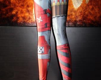 NEW! TAFI Borderlands Leggings - 2K Sci-Fi Video Game-inspired Body Armor Costume Yoga Pants 2017 CosPlay Designer Print