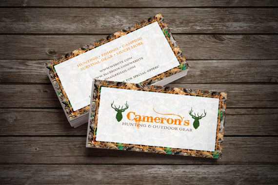 Camo hunter business card design front and back included by il570xn colourmoves