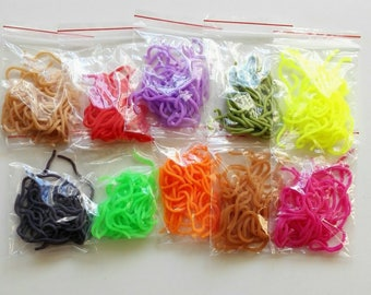 10 SQUIRMY WORMS pesca a mosca costruzione mosche - fly tying material streamers for fly fishing