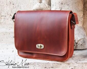 Handmade leather messenger bag - Cross body bag - Leather bag