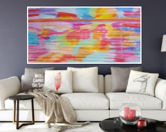 Landscape Abstract painting, Wall art, PRINTABLE art, Colorful art, Abstract art, Modern painting, Large abstract painting, Abstract print
