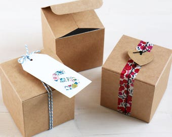DIY Favour Box for Gifts, Sweets & Chocolates x10 boxes | Wedding Favours