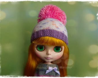BLYTHE, Pullip, SD, SD+ Hat - Knitted Cupcake Hat With Pompom #20