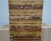 52 x 24 cm cm rust dyed cloth slow dyeing natural dyeing organic eco dyeing textile dyeing fabric remnant piece patchwork stitch collage sew