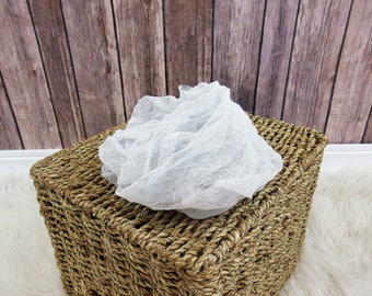 Newborn Cheesecloth Wrap, Light Grey Baby Wrap, Maternity Cheesecloth Wrap
