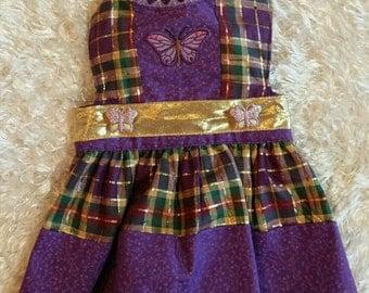 Pretty purple dog dress size x small