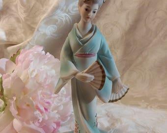 Pastel Japanese Maiden Figurine