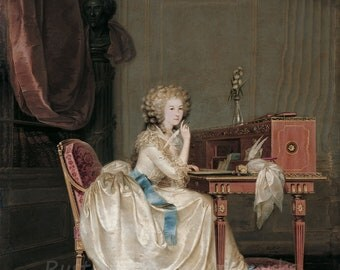 "Anton Hickel ""Portrait of Princess of Lamballe"" 1788 Reproduction Digital Print  Wall Decor Monarchy Royalty"