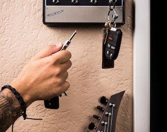 "The ""Vintage"" Jack Rack- Wall mountable guitar amp key rack"