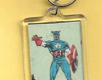 Marvel Captain America Plastic Keychain #2