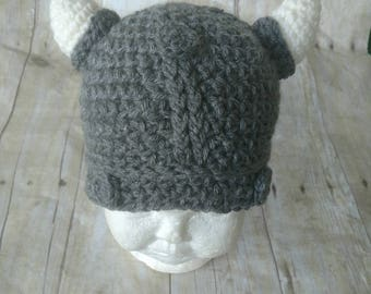 NO CHRISTMAS ORDERS -- Crochet Viking Hat