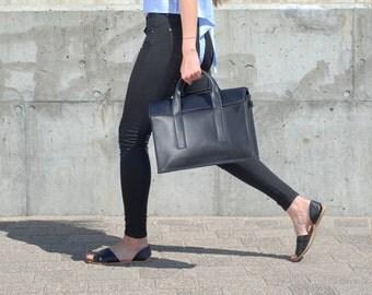 "Portfolio bag/ laptop bag/ 13"" laptop bag/ leather portfolio/ leather handbag"