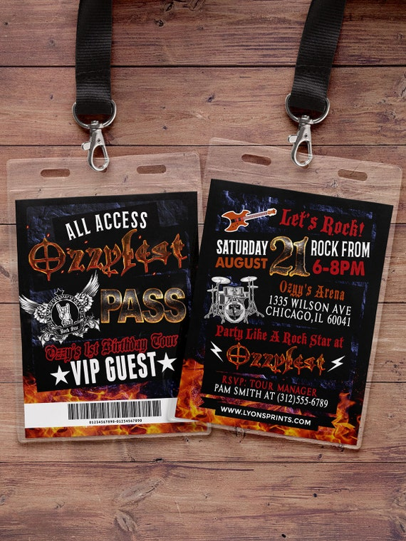 VIP PASS, backstage pass, concert ticket, birthday invitation, Any ...