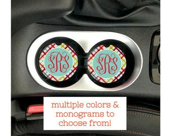 Personalized Car Coasters, Monogram Car Coaster, Personalized Cup Holder Coaster, Personalized Cup Holders, Custom Car Accessories Women