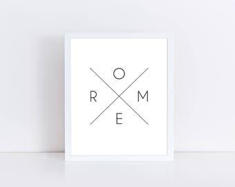 Rome Printable, Rome Italy, Rome Print, Rome Printable Art, Rome Art Printable, Rome Wall Art, Italy Printable, Rome Download