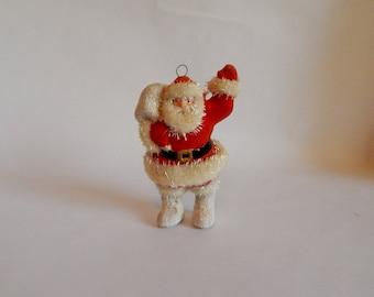 Santa Claus Paper Mache Christmas Ornament