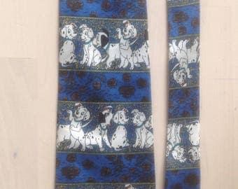 Cravate polyester / thème Disney / 101 dalmations / à porter / soirée mariage à thème / customisation / embellissement / kravacolluphiliste