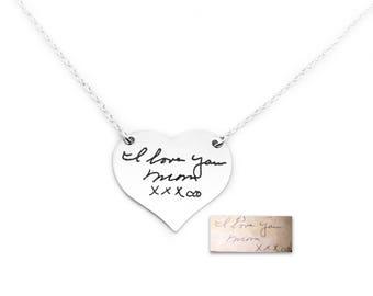 Actual Signature Necklace, Memorial Necklace, Handwriting Necklace, Handwriting, Personalized Necklace, Real Signature Necklace