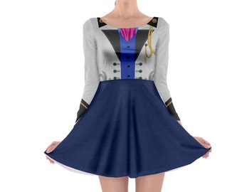 Hans Frozen Inspired Long Sleeve Skater Dress