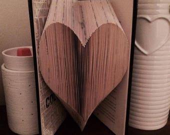 Book Folding Pattern Heart