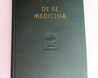 """1938 Reprint of 1478 Book, """"De Re Medicina"""" by Aulus Cornelius Celsus Distributed by Eli Lilly Co - History of Ancient Medical Treatment"""