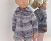Sasha Doll Knitted Coat with Hood  Hippie Collection  Misty Morning