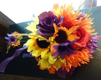 Rustic Fall bouquet ~ Autumn Bouquet ~ Sunflower Bouquet~Wedding bouquet