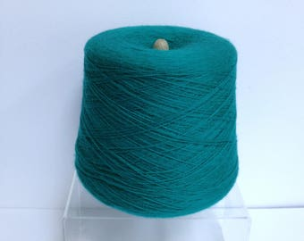 Machine Knitting Yarn Cone - Bright Green Fine Yarn