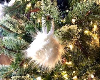Fur Pom Pom Ornament