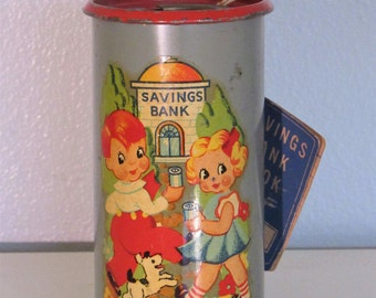 Vintage Children's Metal Bank Lawrence Specialty Co.