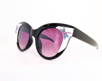 Cat eye Sunglasses, Sunglasses Dragonfly, Retro, Sexy