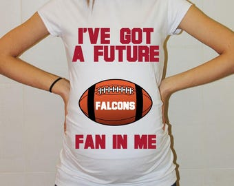 Falcons Maternity Shirt Atlanta Falcons Baby Future Fan Shirt Baby Boy Baby Girl Atlanta Football Maternity Clothing Pregnancy Baby Shower