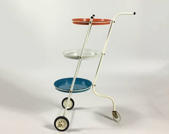Vintage Bar Cart, Bar Trolley, Rolling Bar Cart, Drink Cart, Liquor Cart, Modern Bar Cart, Round Bar Cart, Small Bar Cart, Mid Century Bar