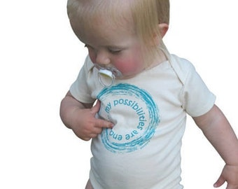 ENDLESS Possibilities! Organic One Piece, Cute Baby Clothes, Organic Baby Apparel, Organic Baby Clothes, Baby boy, Baby girl, Cute Baby Gift