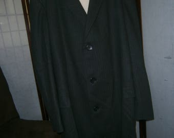 Men's Herringbone Overcoat - 44-46
